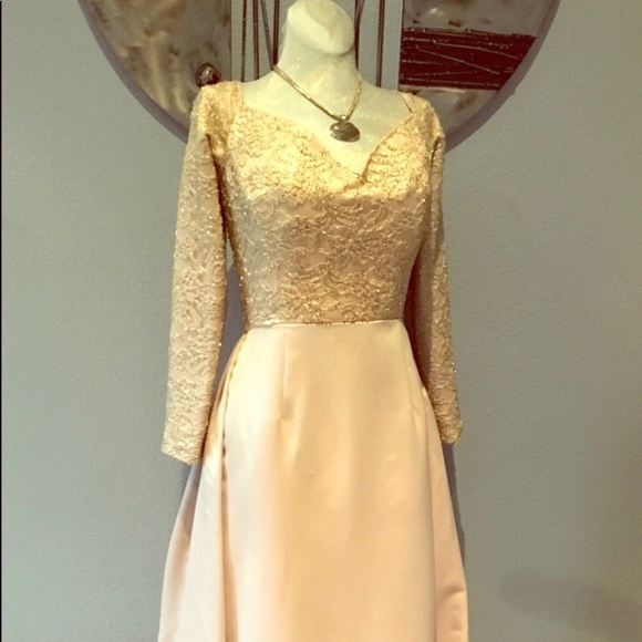 Bob Mackie Dresses | Antique Gold Formal Gown Train 10 | Poshmark